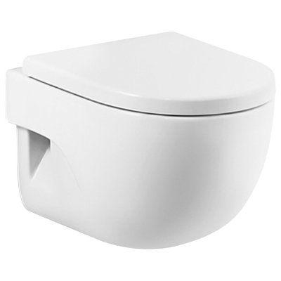 Zestaw miska WC wisząca z deską wolnoopadającą Roca Meridian-N Compacto (A346248000, A8012AC004)