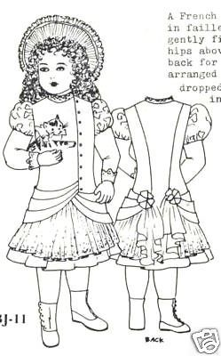 23-ANTIQUE-FRENCH-BEBE-DOLL-1897-DRESS-HAT-PATTERN-BRU