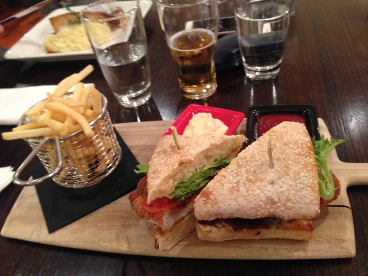 Chicken Sandwich at the RAB Restaurant & Bar at the Grand Hotel Melbourne, Australia
