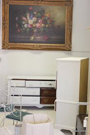 Turning this standard kind of new bedroom   furniture with a dark mahogany finish   into a shabby chic set is what this post is about...