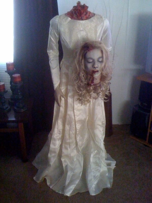 Ghost bride life size for Halloween  Fun prop  The