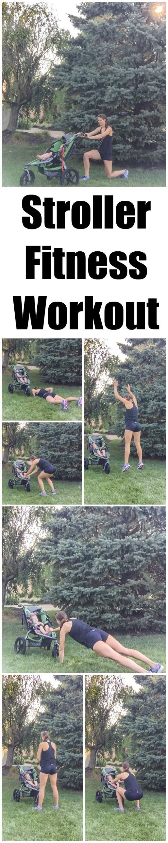 This Stroller Workout is a fun way to break up your next walk or run by adding short fitness breaks that include lunges, squats, burpees and planks. Fun for you AND baby! #ad #makeyourmove