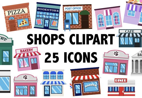Shops Clipart Town Clipart Building Icons Town Clip Art City Buildings Shopping Clipart Boutique Clipart Digita Shopping Clipart Clip Art Building Icon