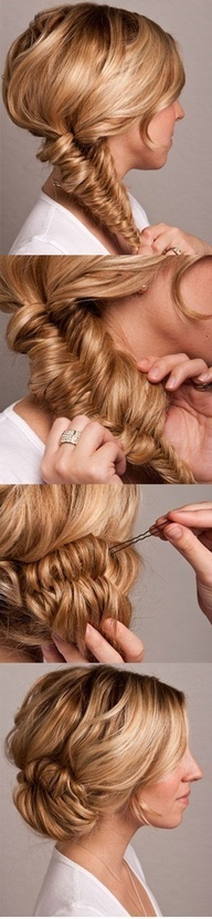By Miss Louie. I love this hairstyle with a breezy summer dress. There's like unintentional sexiness and romanticism with this look. Plus, it's great for hot weather! @Bloom.COM