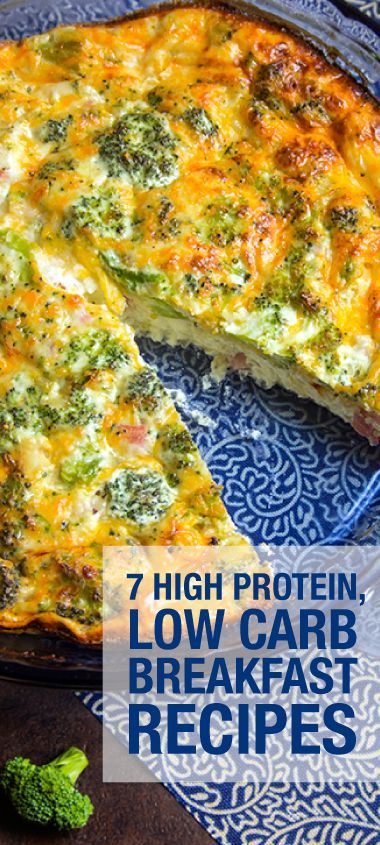 Here are seven delicious high protein, low carbohydrate breakfast recipes to try.