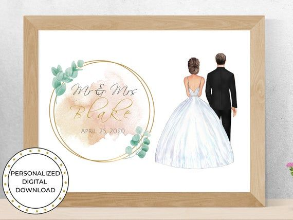 Personalized Wedding Gift For Bride And Groom Gift For Etsy In 2020 Wedding Gifts For Bride And Groom Wedding Gifts For Bride Bride And Groom Gifts