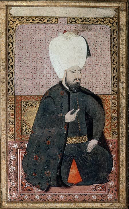 Portrait of Sultan Ahmet I (r. 1603–17) [Turkey] (44.30) | Heilbrunn Timeline of Art History | The Metropolitan Museum of Art.  He was the Sultan of the Ottoman Empire from 1603 until his death in 1617.