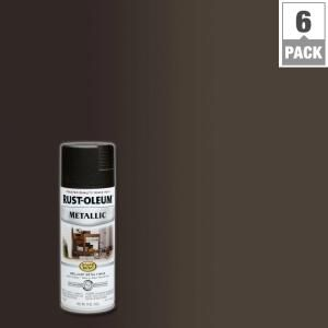 Rust-Oleum Stops Rust 11 oz. Metallic Oil Rubbed Bronze Protective Enamel Spray Paint (6-Pack)-248636 - The Home Depot