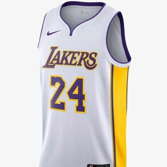 Nike Kobe Bryant Lakers Swingman Jersey White 52 Nike Kobe Bryant Swingman La Lakers Jersey Style Aq2108 100 Nike Kobe Bryant Clothes Design Kobe Bryant