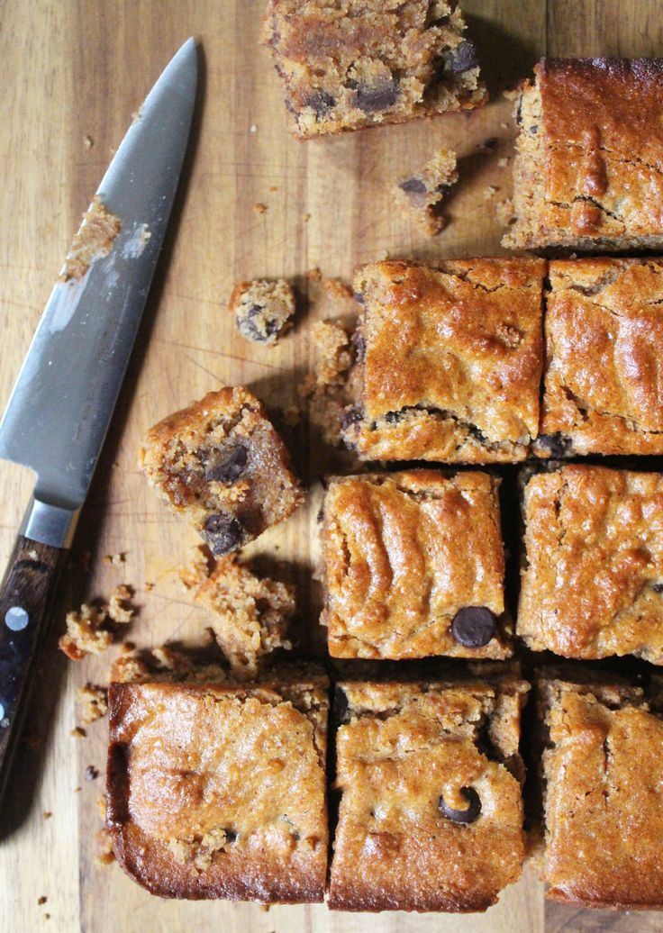 Almond Butter Blondies Recipe (These almond butter blondies are gluten free, dairy free, and paleo friendly.)