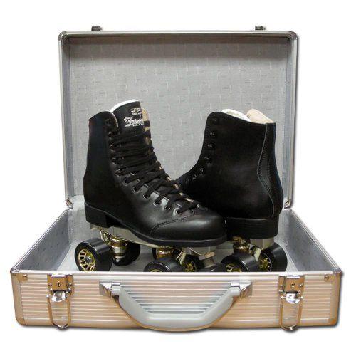 Pacer Fandango Black Roller Skates - Fandango Leather Quad Skates Size Mens 9 / Ladies 10