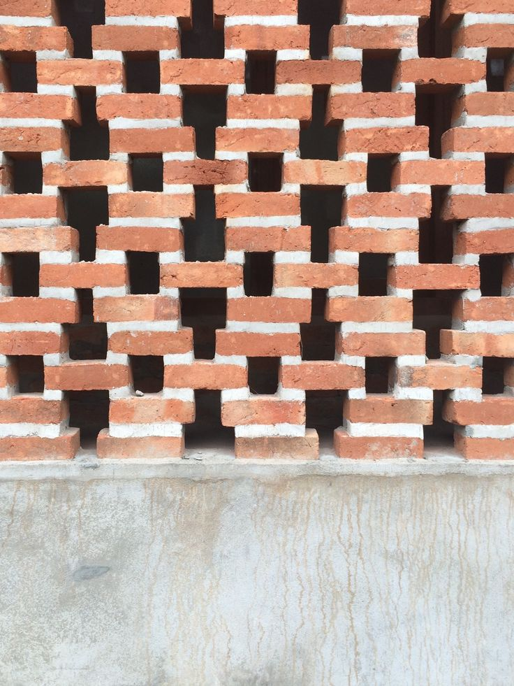 Wall Jali Design : Best images about perforated brick screen wall on