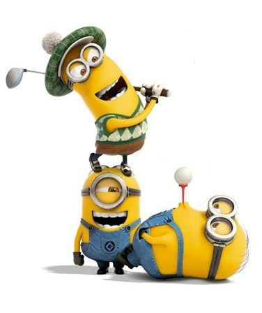 golf minions despicable me yellow funny love my