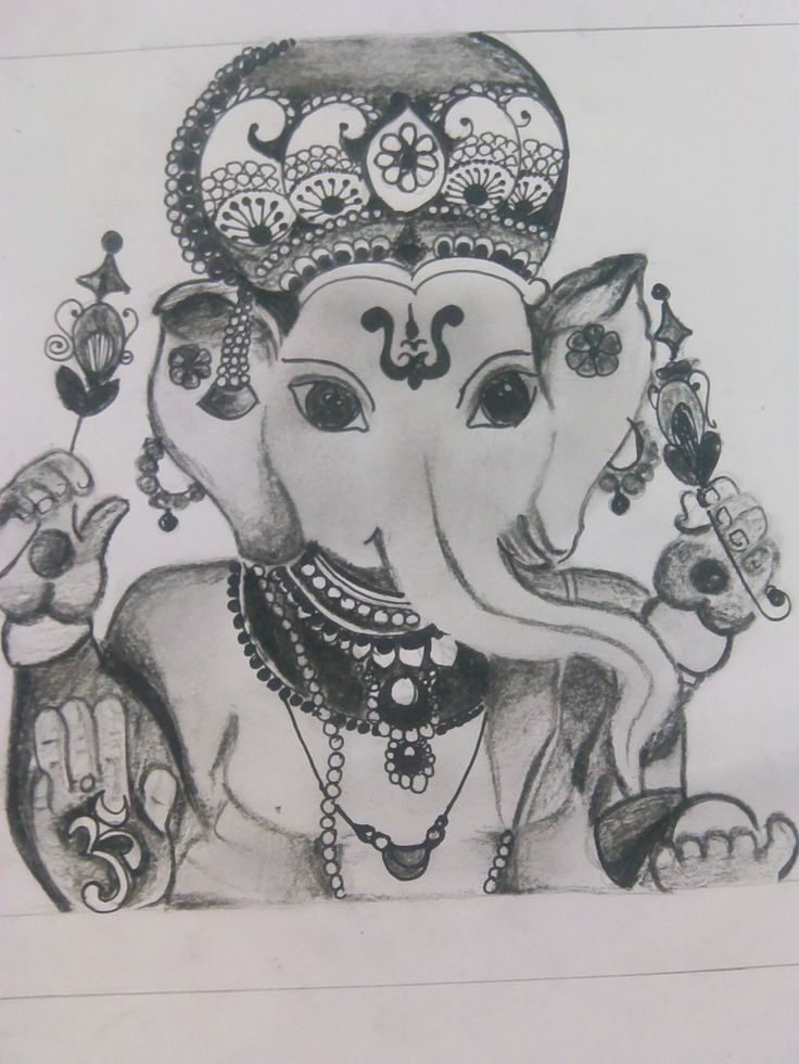 Beautiful ganapati made by my friend!