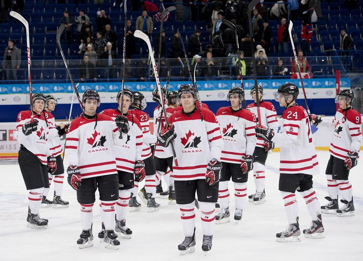 Team Canada - Just after being defeated by Team USA in the semi-final round of the IIHF World Junior Championships hockey in Ufa, Russia on Thursday, Jan. 3, 2013.  Get tickets to all upcoming IIHF World Junior Hockey.