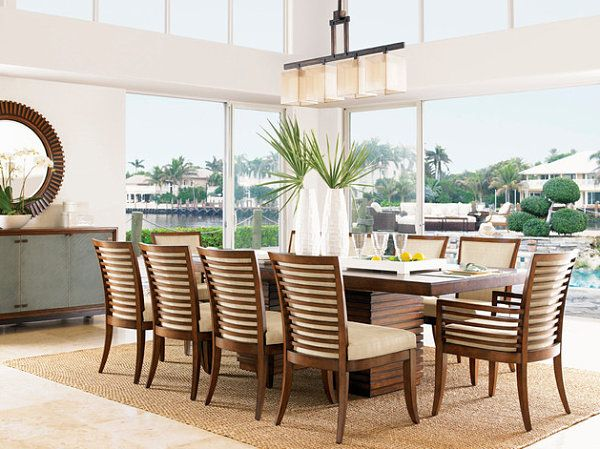 tropical dining room furniture. 12 Tropical Centerpieces Featuring Exotic Greenery Dining Room Furniture E