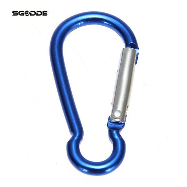[Visit to Buy] 1pcs Aluminum Alloy R-Shaped Carabiner Keychain Hook Camping Hiking Accessory Climbing Carabiner Snap Hook outdoor  #Advertisement