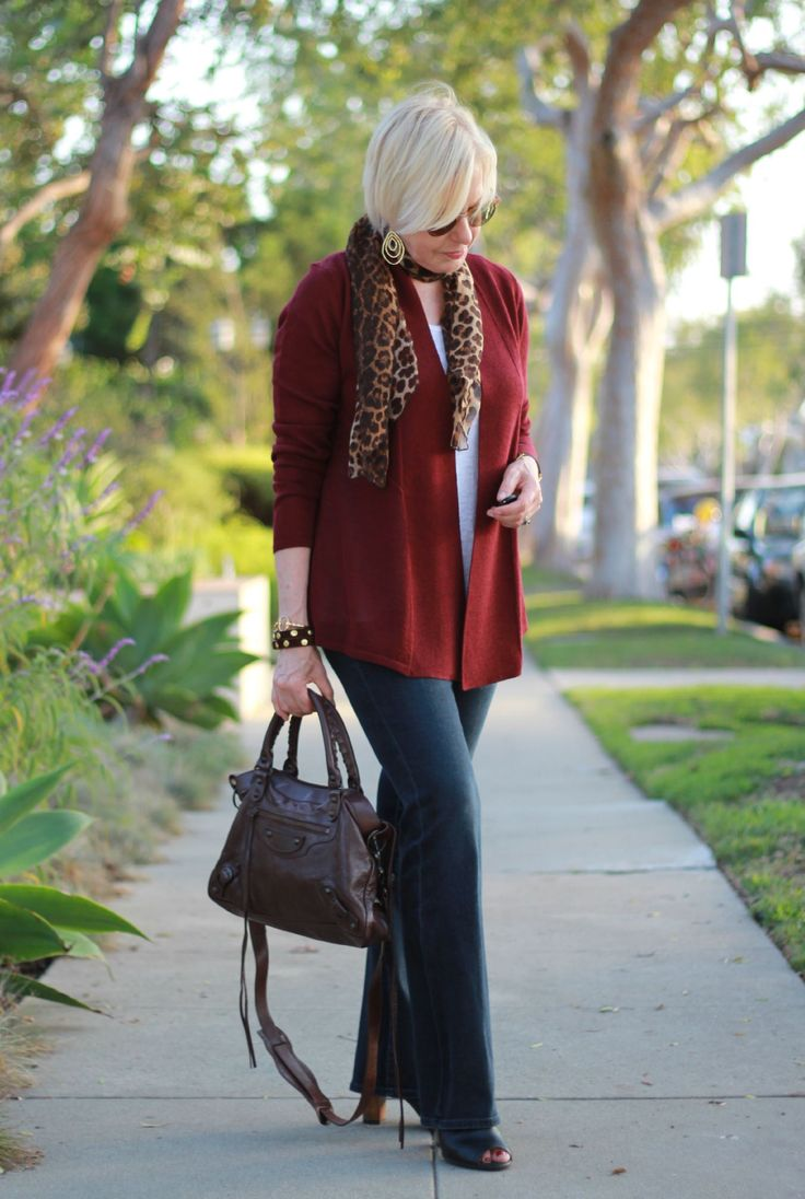 This Eileen Fisher lightweight wool cardigan has a nice shape and the color is flattering and versatile.