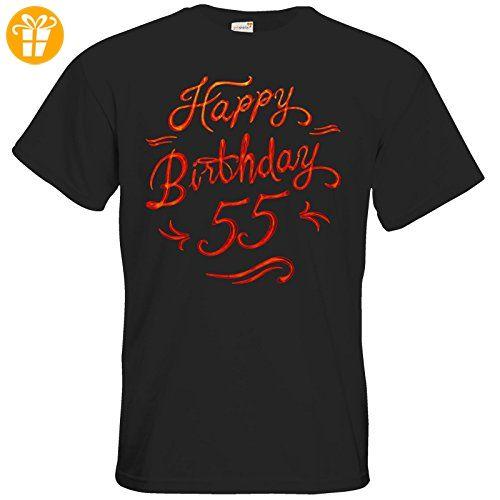 getshirts - RAHMENLOS® Geschenke - T-Shirt - Geburtstag Birthday red glow 55 - black L - T-Shirts mit Spruch   Lustige und coole T-Shirts   Funny T-Shirts (*Partner-Link)