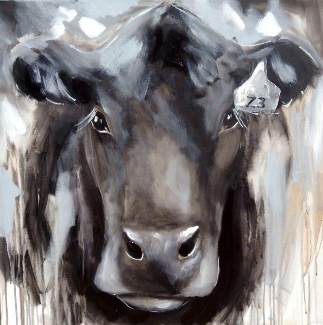 AJ Brooks paintings 5.  Angus 90 x 90cm