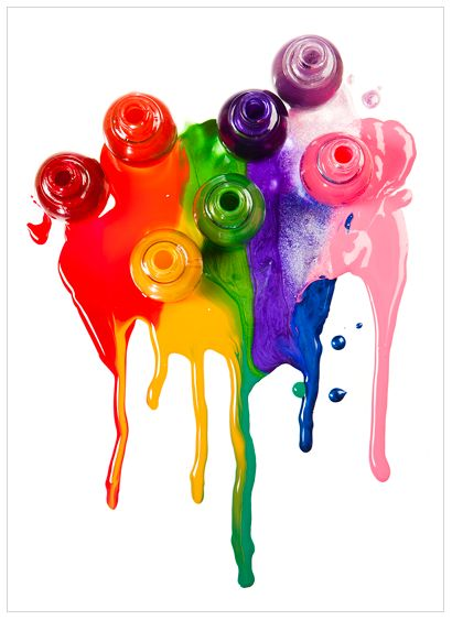 Ooh! Bright colors and nail polish, two of my favorite things! [Nail Polish Rainbow. © nicolephoto.com] #color #photography                                                          just like that crayon thing