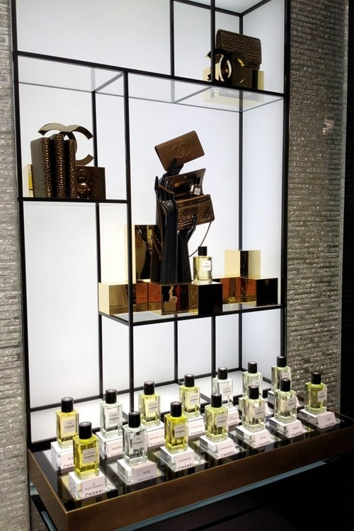♔ Picking out new perfume in the Chanel store in New Bond St, London.