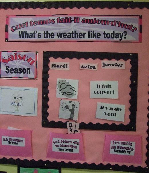French Classroom Calendar classroom display photo - Photo gallery - SparkleBox