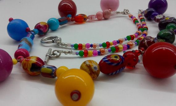 Colourful+necklace+chunky+coloured+bead+by+JewelleryArtDPDesign