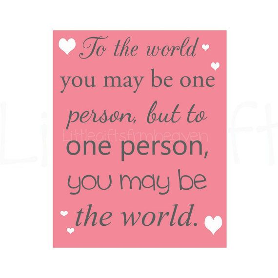 To the world print one person quote by Littlegiftsfrmheaven, $14.00