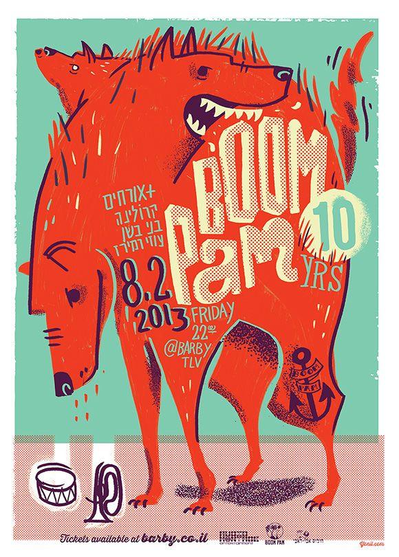Boom Pam 10yr. anniversary poster