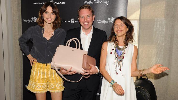 Fashion ist ihr Leben: Model Eva Padberg, Ingolstadt Village Marketing Director Germany Marc Mangold und Schauspielerin Jana Pallaske