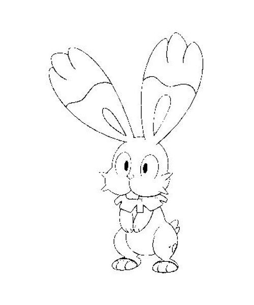 pokemonxandykleurplaten Bunnelby