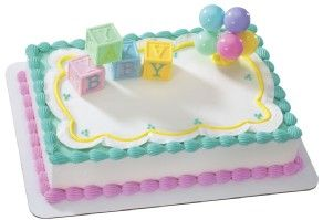 Image result for baby shower sheet cakes for a girl
