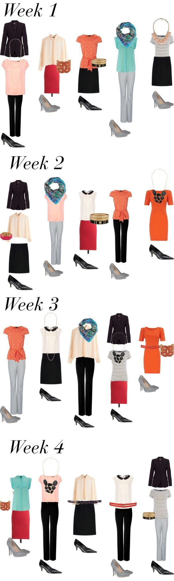 (c) theMuse. Found this while surfing the web, and this is definitely a must see if you're building your professional wardrobe from scratch!