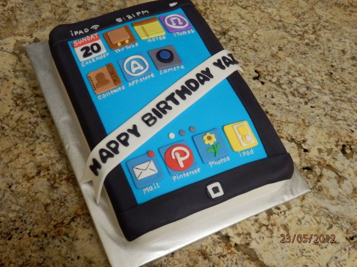 iPad cake - seen a lot of these, but this one I really like, its clean and bright