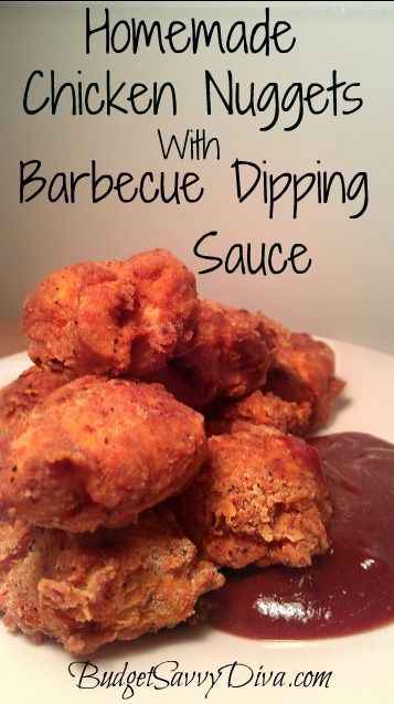 Chicken nuggets, Homemade chicken nuggets and Dipping sauces on ...