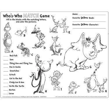 Ziemlich Dr. Seuss Farbbuch Zeitgenössisch - Ideen färben - blsbooks.com