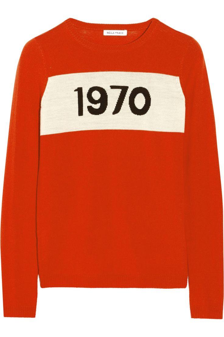 Bella Freud|1970 intarsia wool sweater|NET-A-PORTER.COM