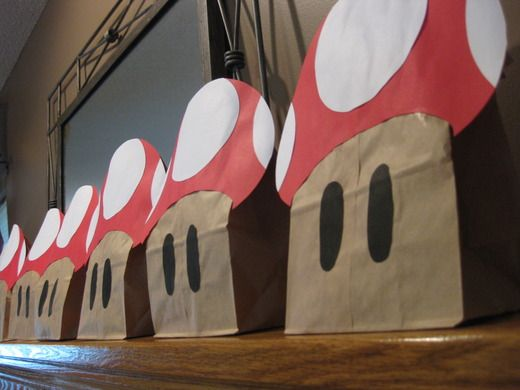 Super Mario Party: Treat sacks were mushrooms made from lunch sacks
