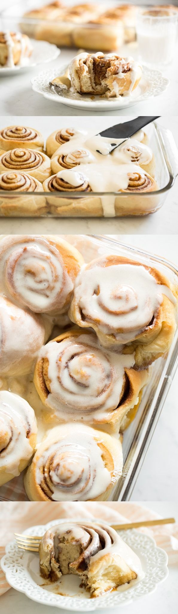 VEGAN CINNAMON ROLLS (with a make-ahead option). You won't believe how good these are!! Click photo for the full recipe.