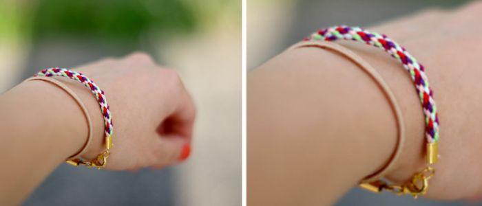 DIY: Kordelarmband // Bracelet via blog.DaWanda.com