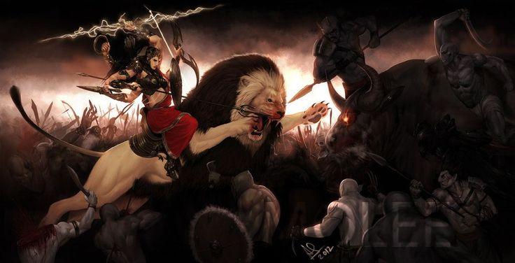Durga-Goddess of War by molee.deviantart.com on @deviantART