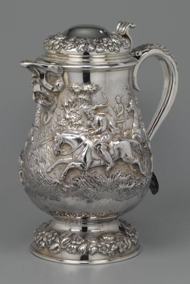 A large Victorian silver chocolate pot, James Barclay Hennell, London, 1880