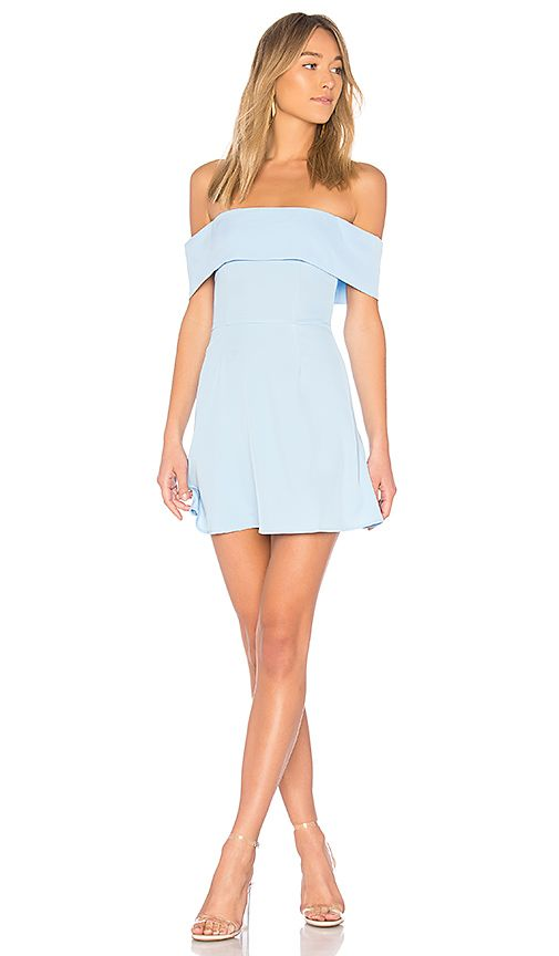 8fc152c71ed50 Aubrey Off Shoulder Dress in Light Blue at REVOLVE. Free 2-3 day shipping  and returns