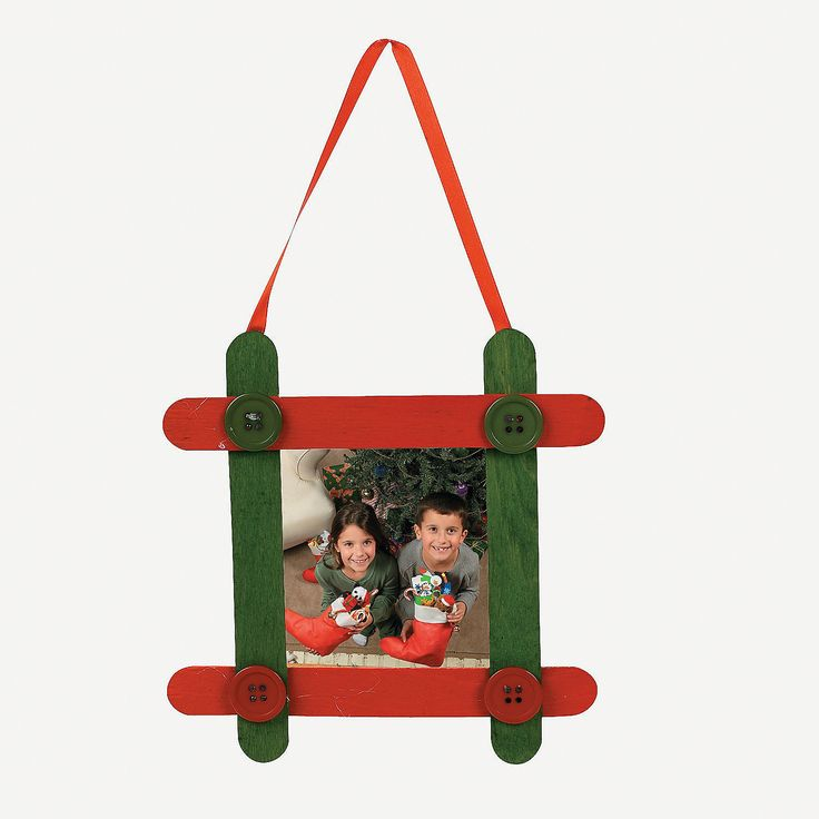 Christmas Picture Frame Craft Ideas Part - 40: (Idea From Oriental Trading) Craft Stick Photo Frame