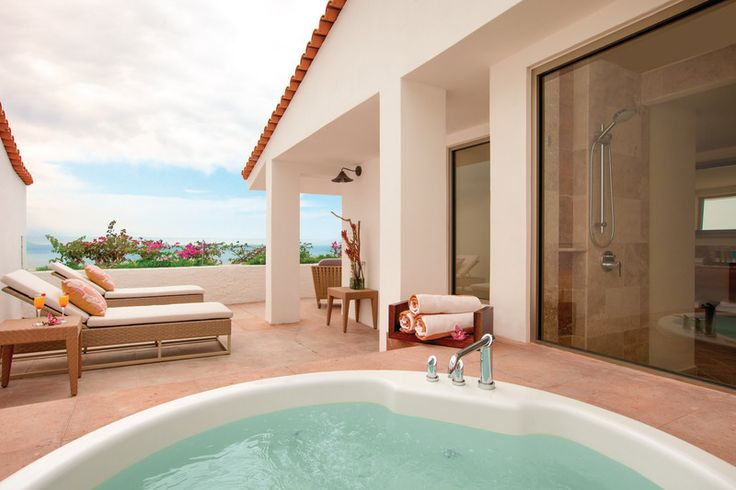 Surrounded by cliffs, the sounds of waves, and gorgeous Pacific sunsets, this One Bedroom Plunge Pool Suite at Hyatt Ziva Puerto Vallarta is total #HoneymoonGoals