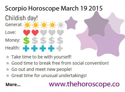 Childish day for #Scorpio on March 19th 2015 #horoscope ! http://www.thehoroscope.co/horoscope/Scorpio-Horoscope-today-March-19-2015-2648.html