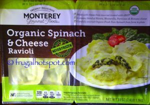 Monterey Gourmet Foods Organic Spinach & Cheese Ravioli. #Costco #FrugalHotspot