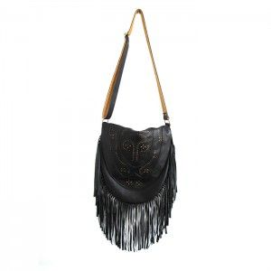 FAVELA BLACK LEATHER BAG
