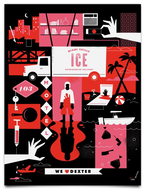 dexter season two print - so clever